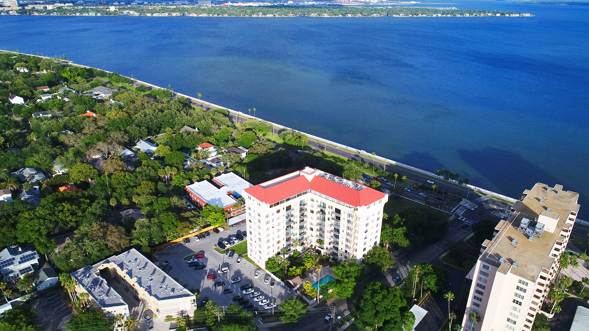 areal Bayshore Overlooking Tampa Bay Downtown and Davis Island PHOTOS